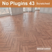 Herringbone parquet scratched 43 (without the use of plug-ins)