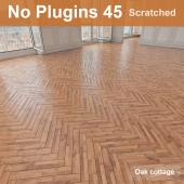 Herringbone parquet scratched 45 (without the use of plug-ins)