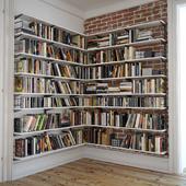 Книжные полки с декором