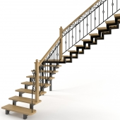 Лестница кованая с патиной