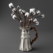 Vase with twigs