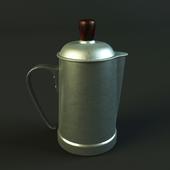 Antique Portuguese aluminum coffee pot