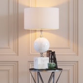 Eichholtz Table Lamp Creek and Side Table Domingo L