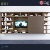 Wall-mounted storage wall by zalf