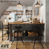 AVE Kitchen bar volume