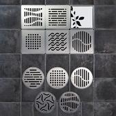 Ladders shower ACO Showerpoint (backlit)