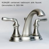Kohler centerset bathroom sink faucet Devonshire K-393-N4