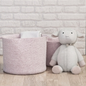 Light Pink Sloan Cotton Rope Storage - Pottery Barn Kids