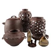 Set of Vase Clay