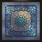 Stained glass square