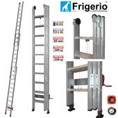"Extendable aluminum ladder ""Dial 1959"""