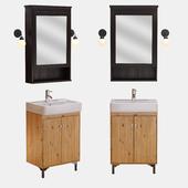 Ikea,раковина hemnviken,зеркало hemnes,шкаф silveron
