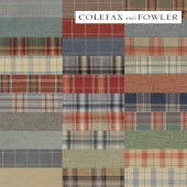 Fabrics from the collection of Erskine Wools of Colefax and Fowler