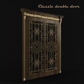 Classic double door