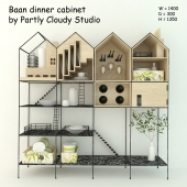 Baan dinner cabinet by Partly Cloudy Studio