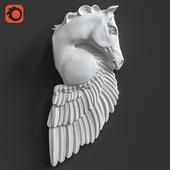 Pegasus Horse Wall Sculpture