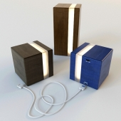 Decorative Wooden Cube Lamp