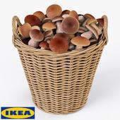 Корзина IKEA НИППРИГ с грибами