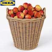 Корзина IKEA НИППРИГ с яблоками