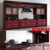 Scavolini Baccarat Kitchen Red