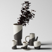 Shift Porcelain Moroccan Tea Set