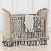 RH Belle Upholstered Crib (distressed linen)