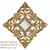 Gold Frame Elegant Mirror