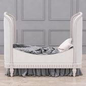 RH Belle Upholstered Toddler Bed (Antique Grey Mist)