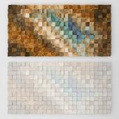 Wood wall mosaic - Art Glamour