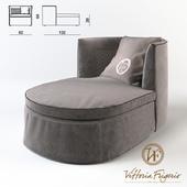 Litta longue armchair (82x132x69cm)