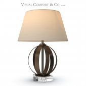 Visual Comfort Metal Banded talbe lamp