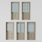 5 interior doors beige color