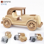 wooden toy machine
