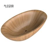 Freestanding bath wood Alegna Laguna Pearl