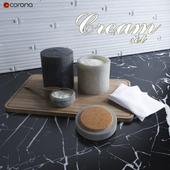 Cream set