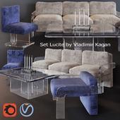 Lucite set by Vladimir Kagan