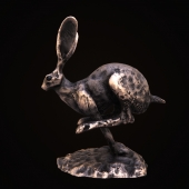 HURRICANE HARE Frith Cold Cast Bronze Sculpture