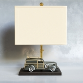 SHADES OF LIGHT. Vintage Wagon Table Lamp