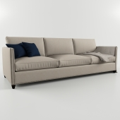 Crate and Barrel Dryden sofa with Nailheads