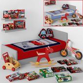 Decoration set for boy-room (cars, vehicle)