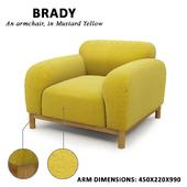 Brady Armchair (mustard yellow)