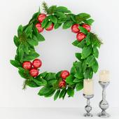 Рождественский венок из лавра