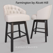 "Farmington 29"" Swivel Bar Stool by Alcott Hill"