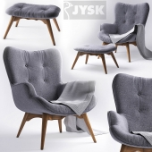 Armchair with pouf - jysk EJERSLEV