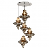 HEATHFIELD & CO BASILICA 5 LIGHT PENDANT