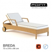 Point - Breda lounger / Chaise Breda