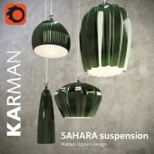 SAHARA GREEN suspension lamps by KARMAN