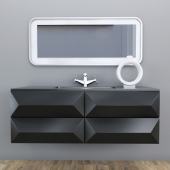 washbasin CRISTALLO MARRONE
