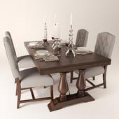 Pottery Barn Ashton tufted dinning chair Lorraine extending dinning table