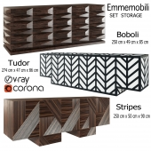 Set Emmemobili Boboli Tudor Stripes